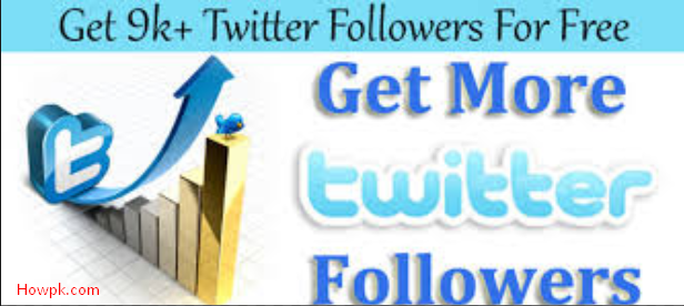 How to get free twitter followers instantly 3 Ways | HowPk