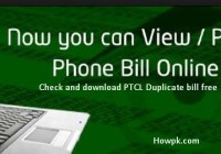 Check PTCL Telephone Bill Online - Download Duplicate Bill [howpk.com]
