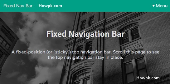 How to make Fixed Navigation Bar in HTML and CSS [howpk.com]