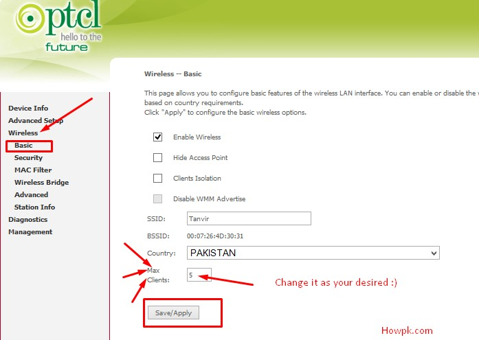 How to increase PTCL WiFi Clients Limit and Coverage