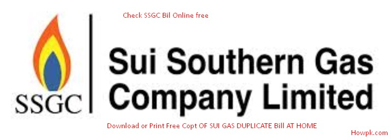 Check SSGC Bill Online - Download Sui Gas Duplicate Bill [howpk.com]