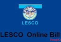 Check your LESCO Bill Online - Print Duplicate Electricity Bill [howpk.com]