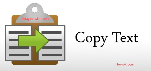 Copy and Extract text from images [howpk.com]