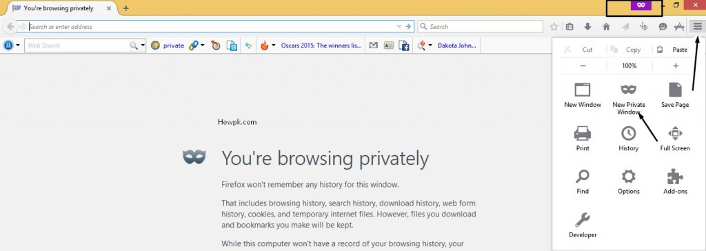 How to Open Incognito Window in Chrome, Firefox etc [howpk.com]