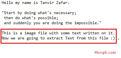 how to copy and extract text from image files free [howpk.com]