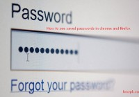 how to check saved passwords in Firefox and chrome [howpk.com]