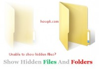 Unable to show hidden files and folders [solution] [howpk.com]