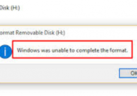 windows was unable to complete the format -Solution [howpk.com]