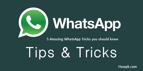 5 useful tricks for whatsapp users - Amazing tips and tricks for WhatsApp [howpk.com]