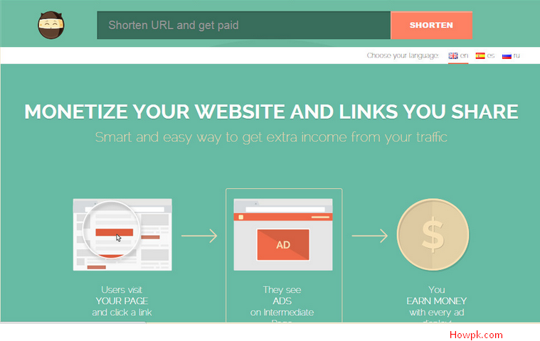 how to earn money from website visits how to earn money from url shortener howpk 7675